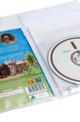 Plastlomme RFID/CD + cover/bilag, 100 stk. -BESTSELGER!