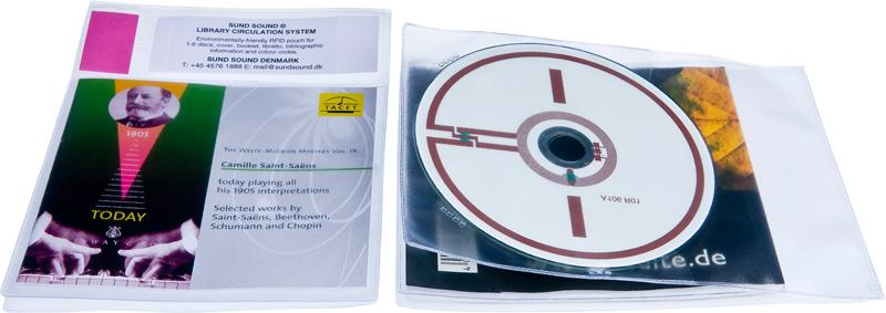 Plastlomme RFID CD/DVD Libretto