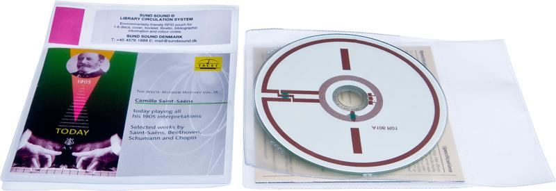 Lomme RFID 1 CD og Cover, 100 stk.