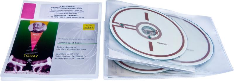 Lomme RFID 4 CD og Cover, 50 stk.